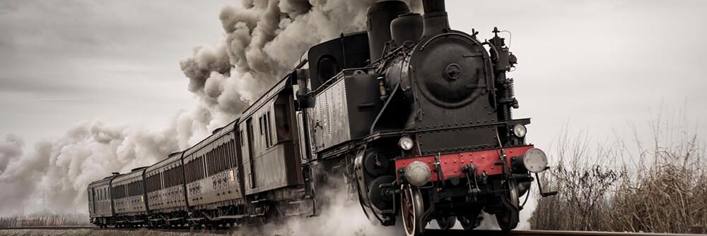 Fotobehang treinen