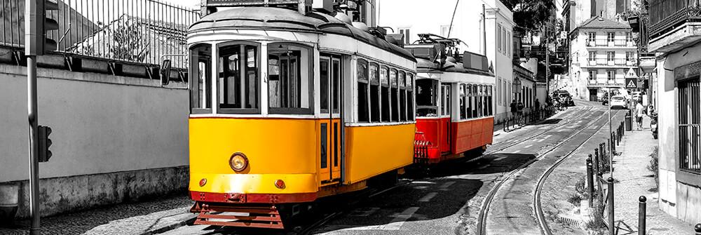 Fotobehang met trams