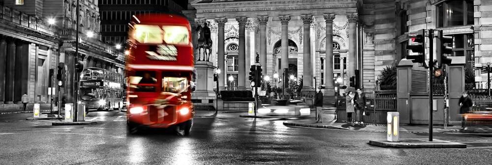 Fotobehang met bussen