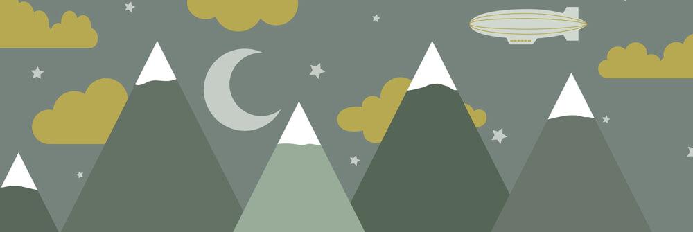 Kinderbehang met bergen