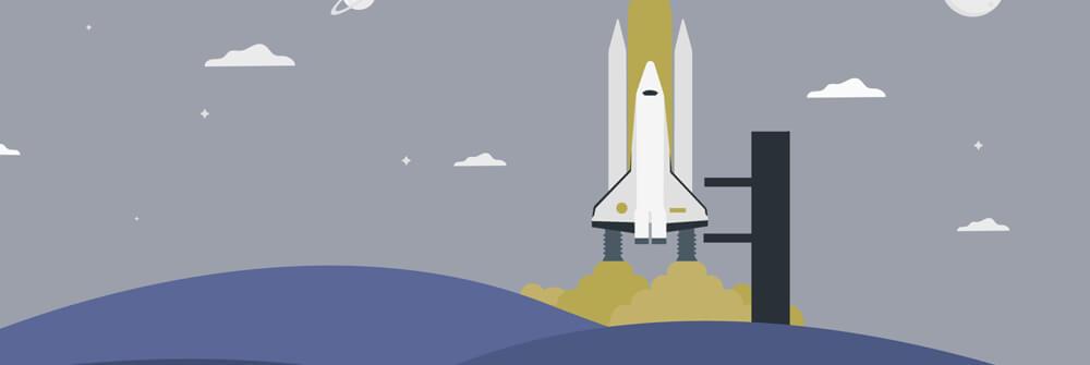Kinderbehang met astronomie en ruimte
