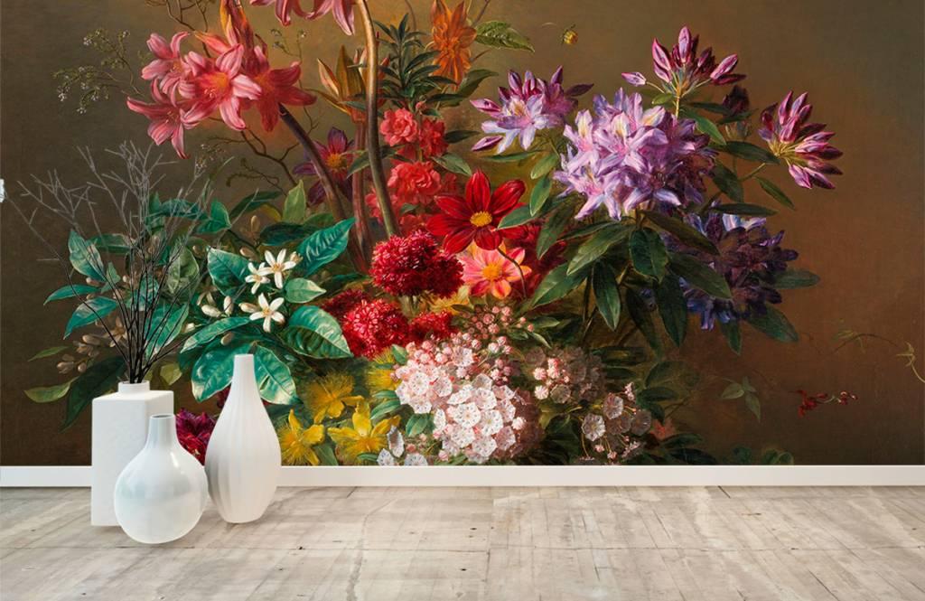 Stillevens en Bloemen - Stilleven met bloemen in een Griekse vaas - Woonkamer 1