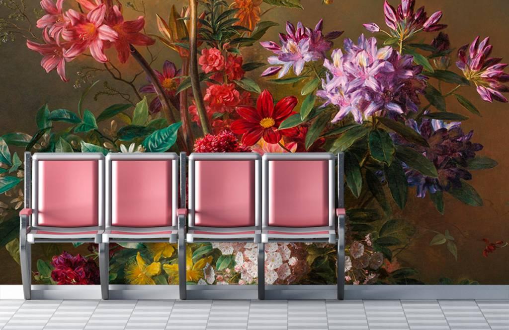 Stillevens en Bloemen - Stilleven met bloemen in een Griekse vaas - Woonkamer 2