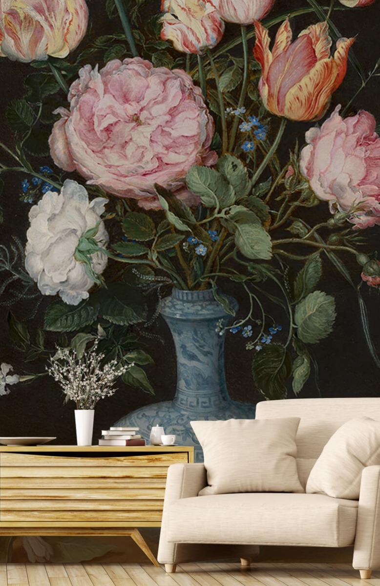 Rijksmuseum - Wan-Li-vaas met bloemen - Woonkamer 1