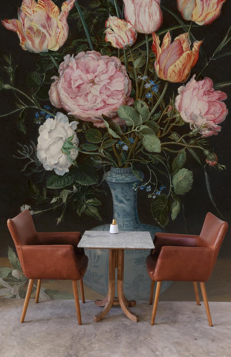 Rijksmuseum - Wan-Li-vaas met bloemen - Woonkamer 3