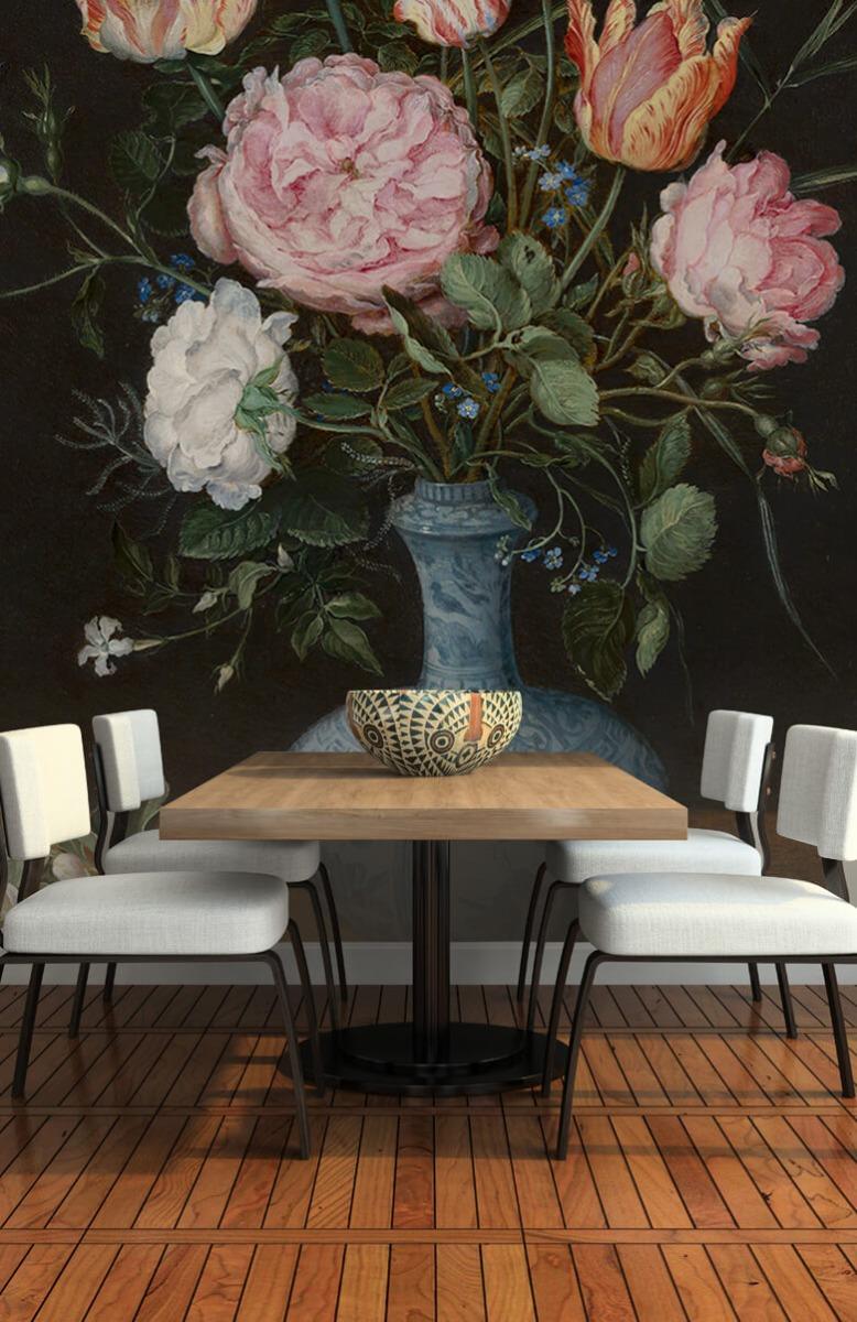 Rijksmuseum - Wan-Li-vaas met bloemen - Woonkamer 5