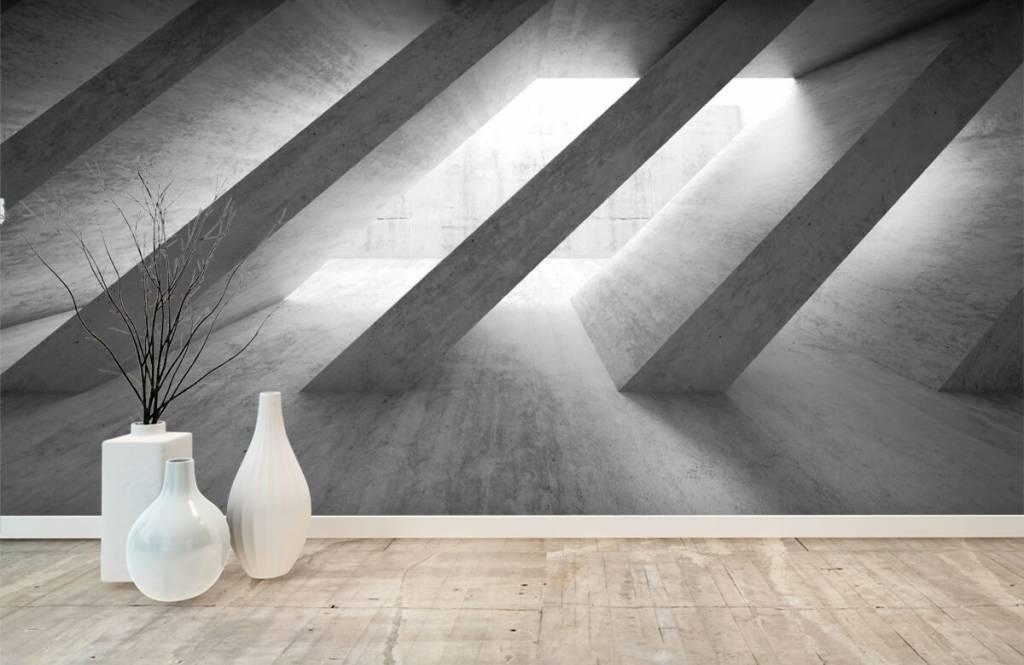 Overige teksturen - Betonnen pilaren in 3D - Slaapkamer 1