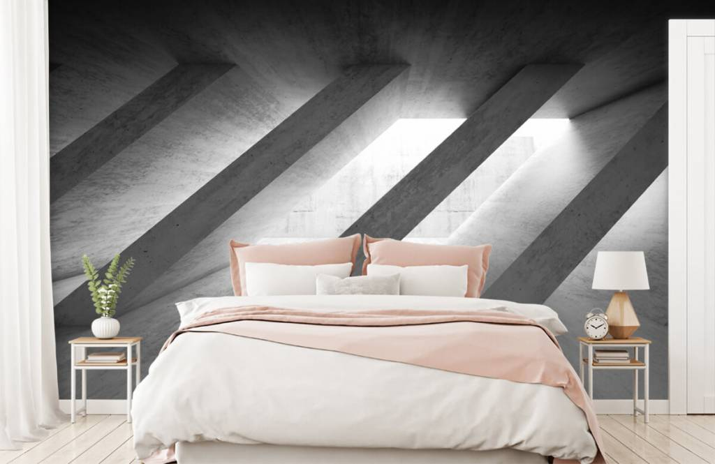 Overige teksturen - Betonnen pilaren in 3D - Slaapkamer 2