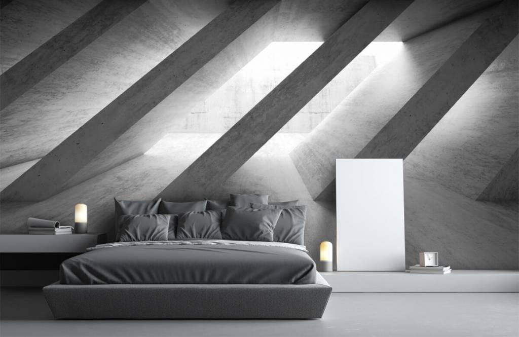 Overige teksturen - Betonnen pilaren in 3D - Slaapkamer 3