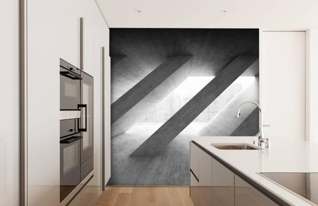 Overige teksturen - Betonnen pilaren in 3D - Slaapkamer 4