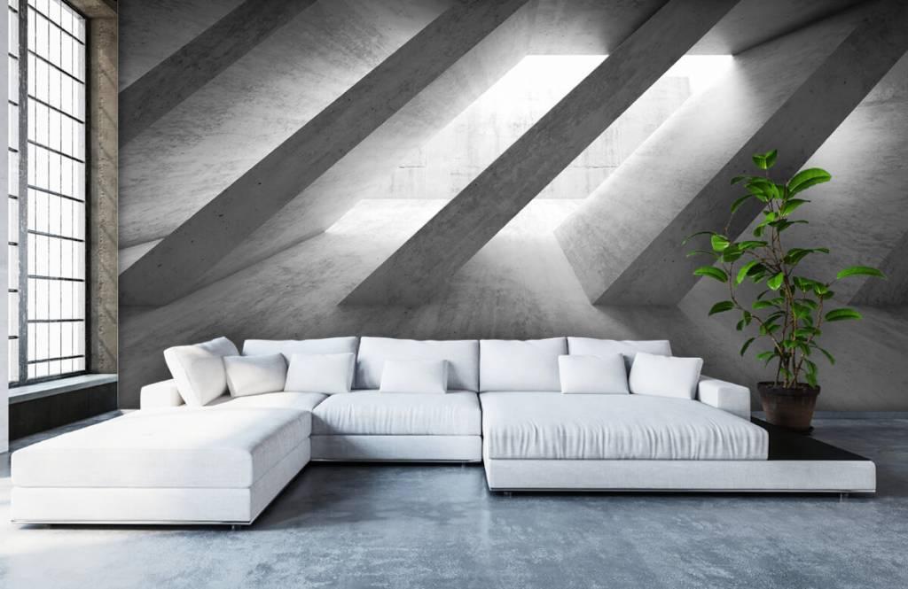 Overige teksturen - Betonnen pilaren in 3D - Slaapkamer 6