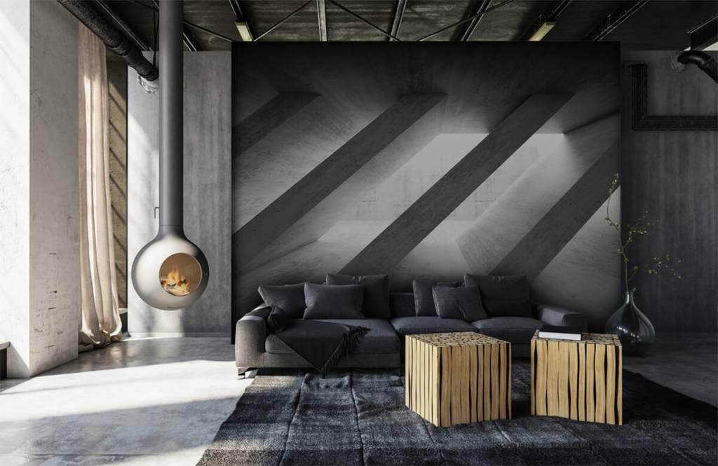 Overige teksturen - Betonnen pilaren in 3D - Slaapkamer 7
