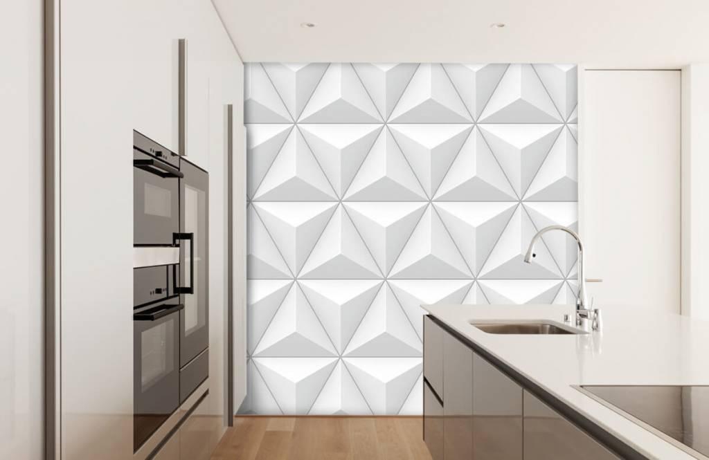 Fotobehang Driehoeken in 3D