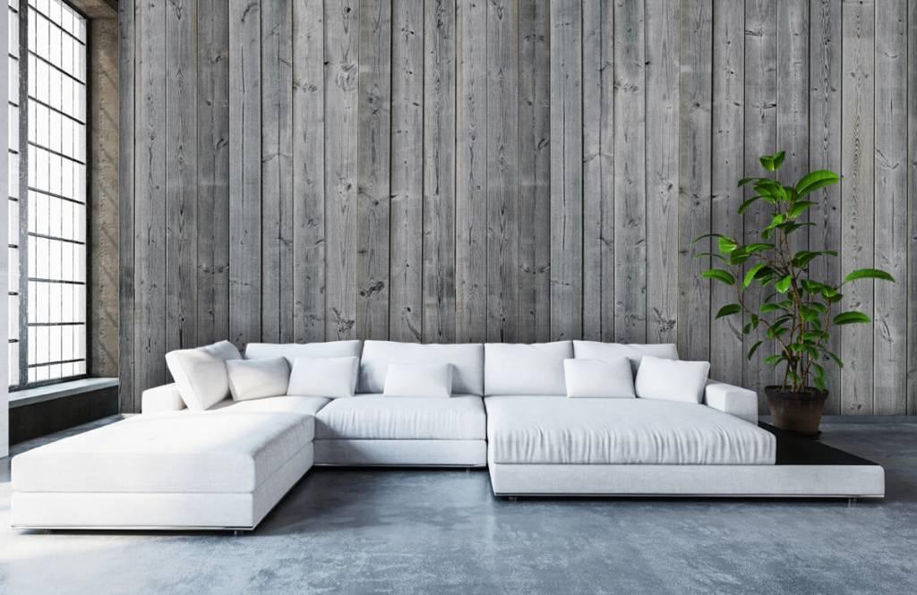 Verwonderend 3D behang met houten planken - Fotobehang YQ-42