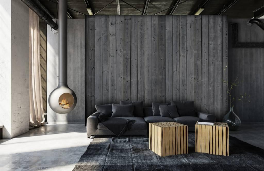 Hout behang - Houten planken in 3D - Slaapkamer 2