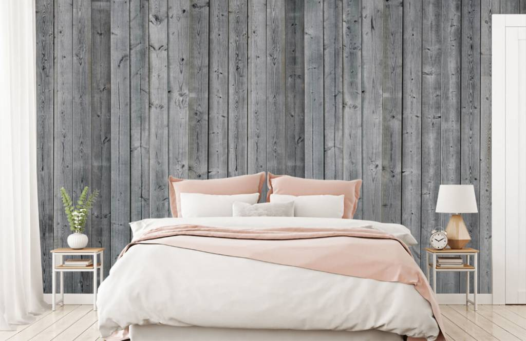 Hout behang - Houten planken in 3D - Slaapkamer 3