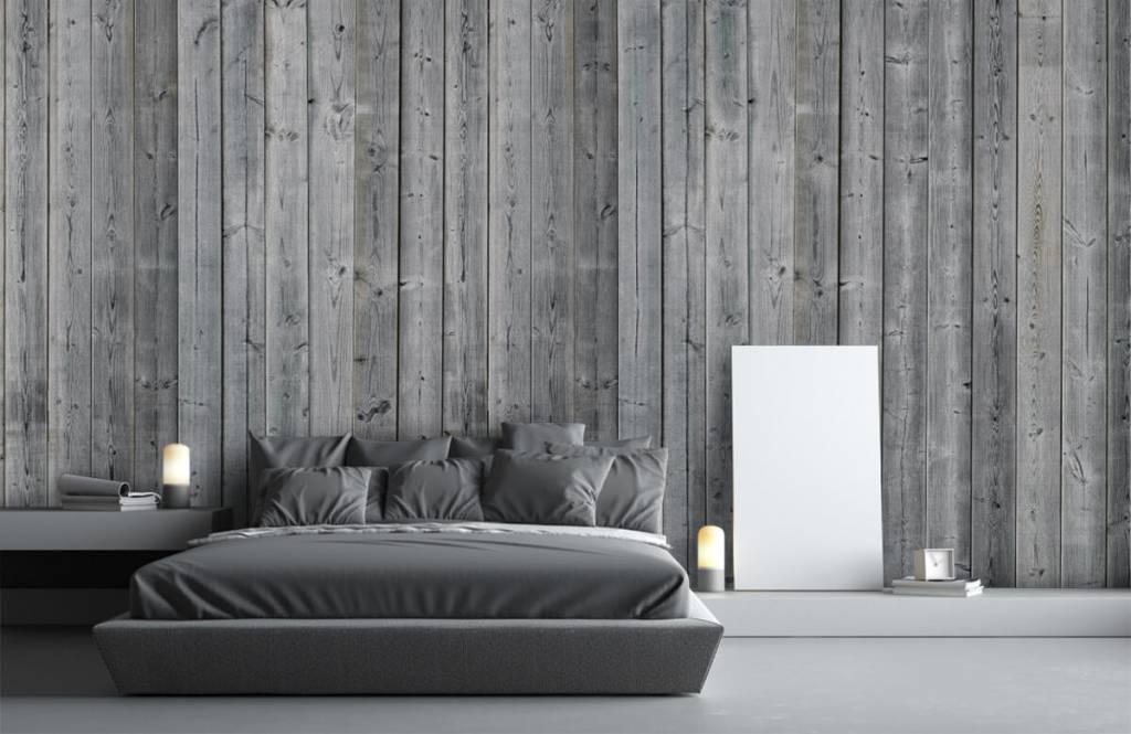 Hout behang - Houten planken in 3D - Slaapkamer 4