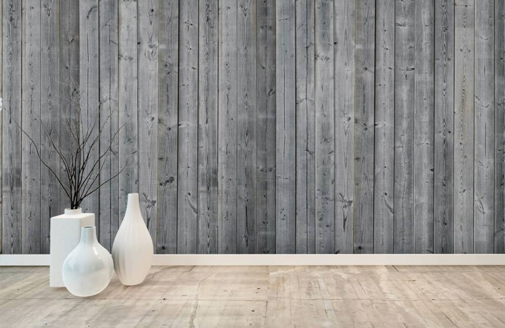 Hout behang - Houten planken in 3D - Slaapkamer 8