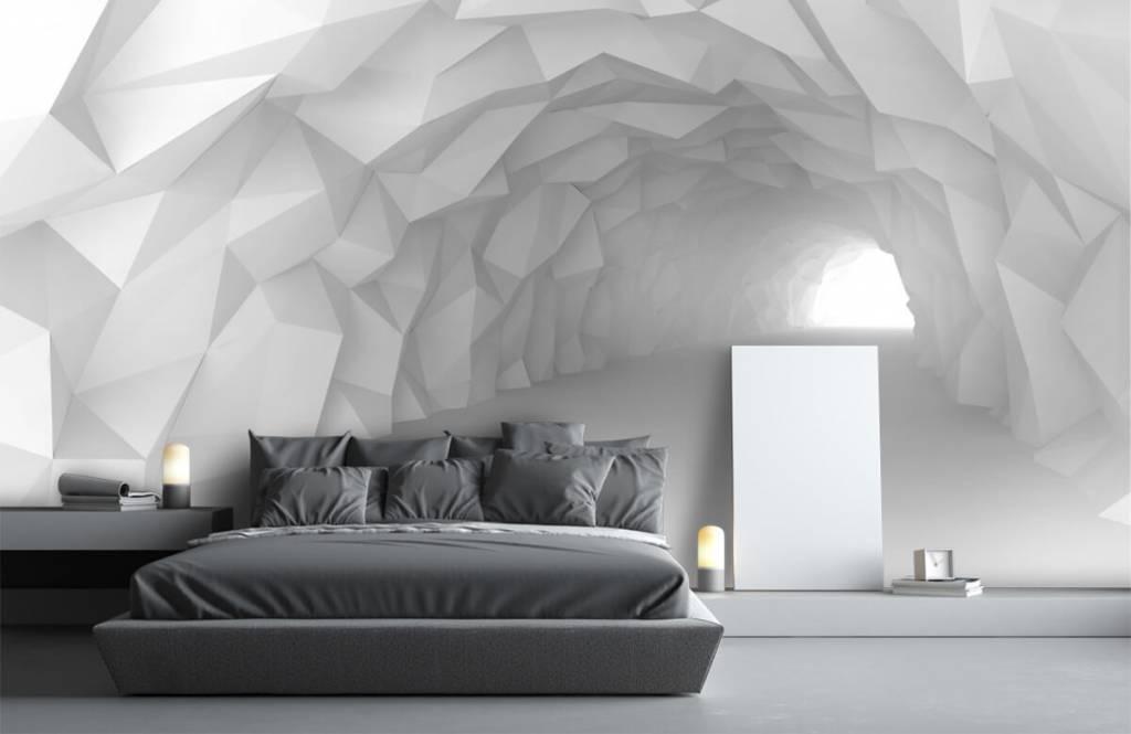 Overige - Puntige tunnel in 3D - Tienerkamer 3