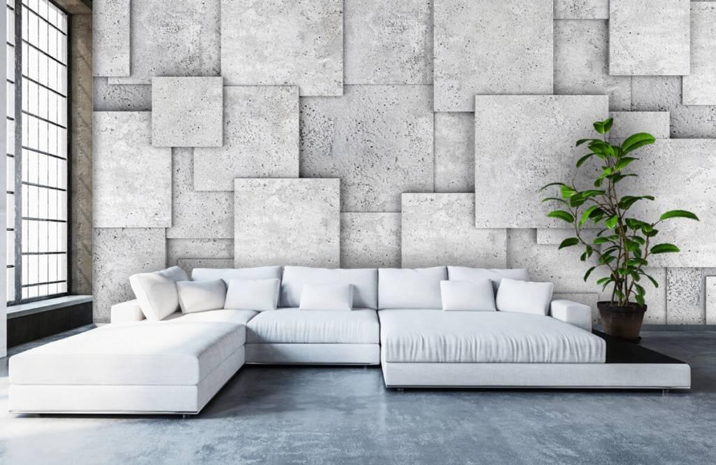 Overige teksturen - Vierkante tegels in 3D - Slaapkamer 1