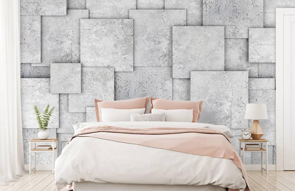 Overige teksturen - Vierkante tegels in 3D - Slaapkamer 2