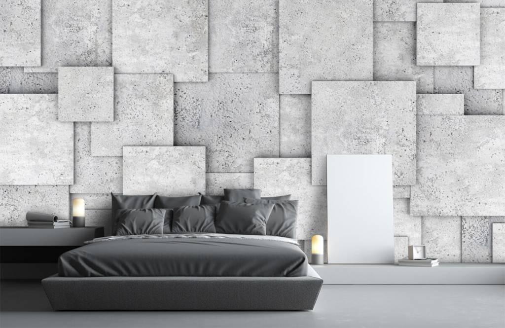 Overige teksturen - Vierkante tegels in 3D - Slaapkamer 3