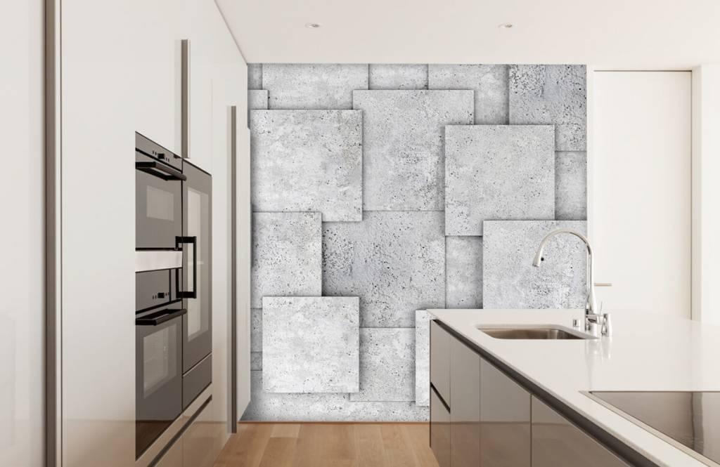 Overige teksturen - Vierkante tegels in 3D - Slaapkamer 4