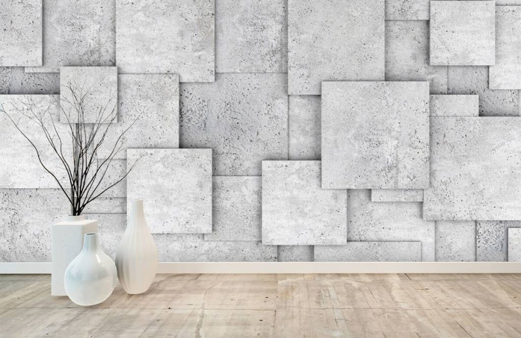 Overige teksturen - Vierkante tegels in 3D - Slaapkamer 8