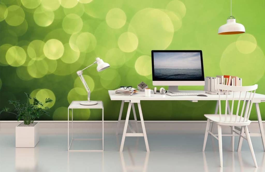 Abstract behang - Abstract groene cirkels - Ontvangstruimte 1