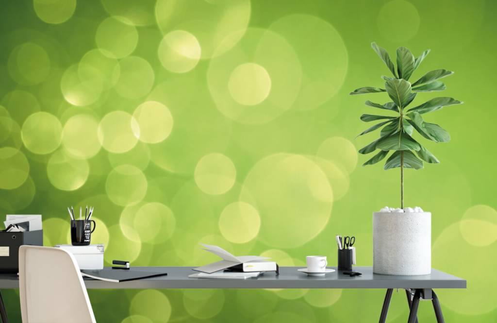 Abstract behang - Abstract groene cirkels - Ontvangstruimte 2