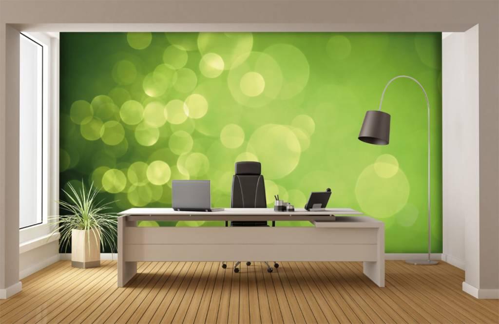 Abstract behang - Abstract groene cirkels - Ontvangstruimte 3