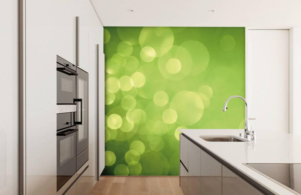 Abstract behang - Abstract groene cirkels - Ontvangstruimte 4