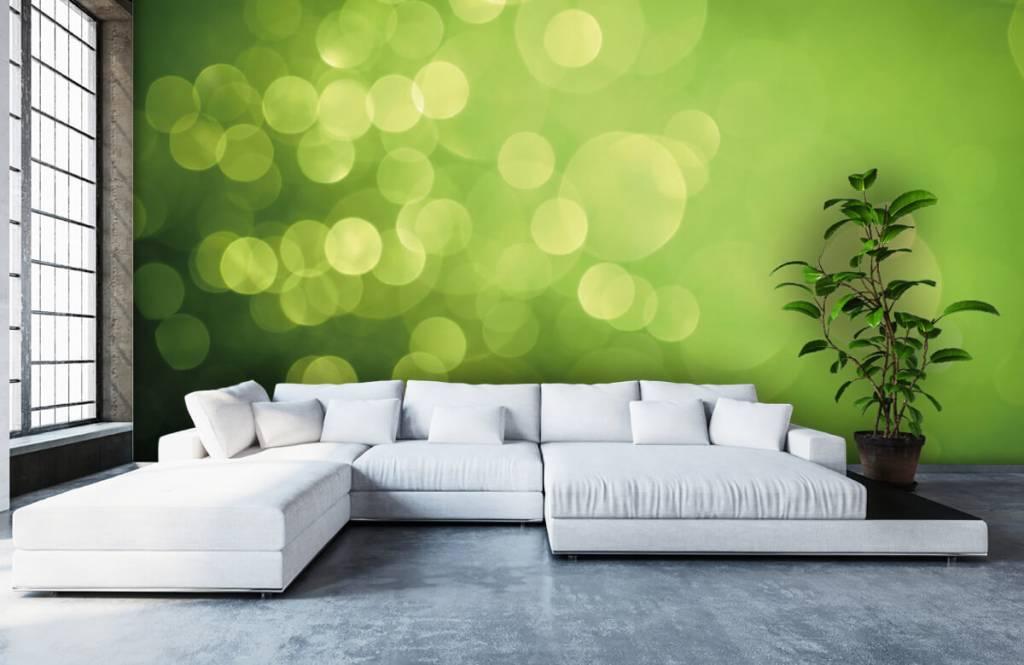 Abstract behang - Abstract groene cirkels - Ontvangstruimte 5