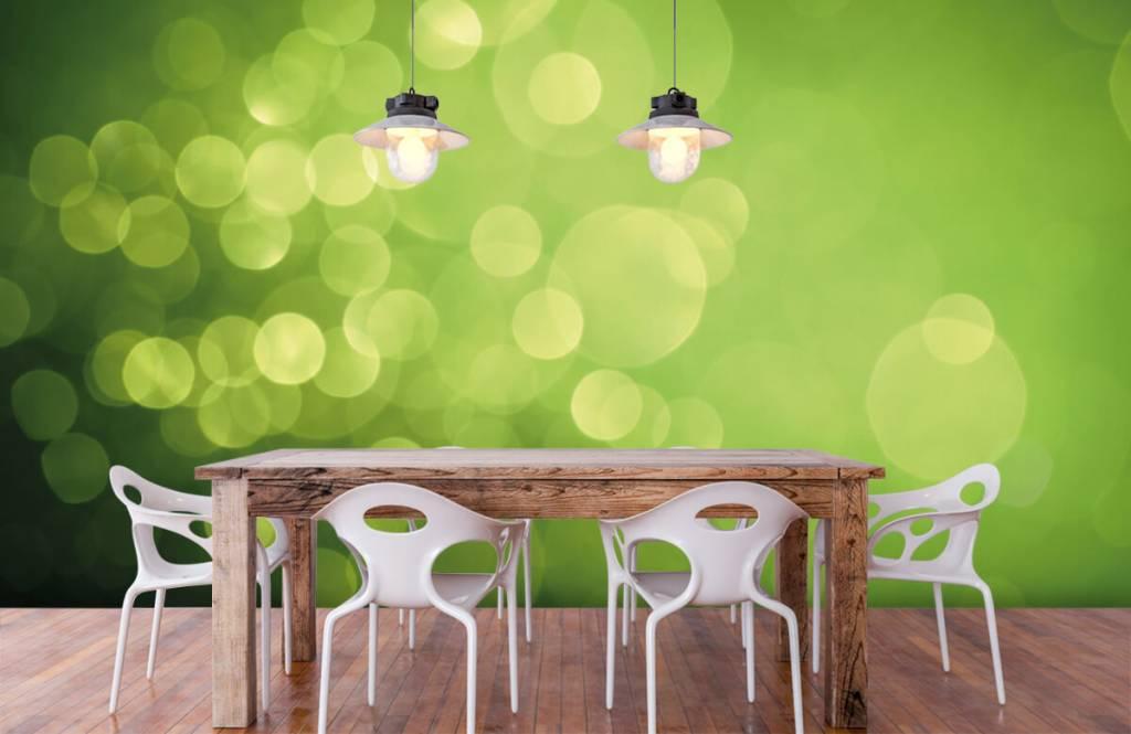 Abstract behang - Abstract groene cirkels - Ontvangstruimte 6