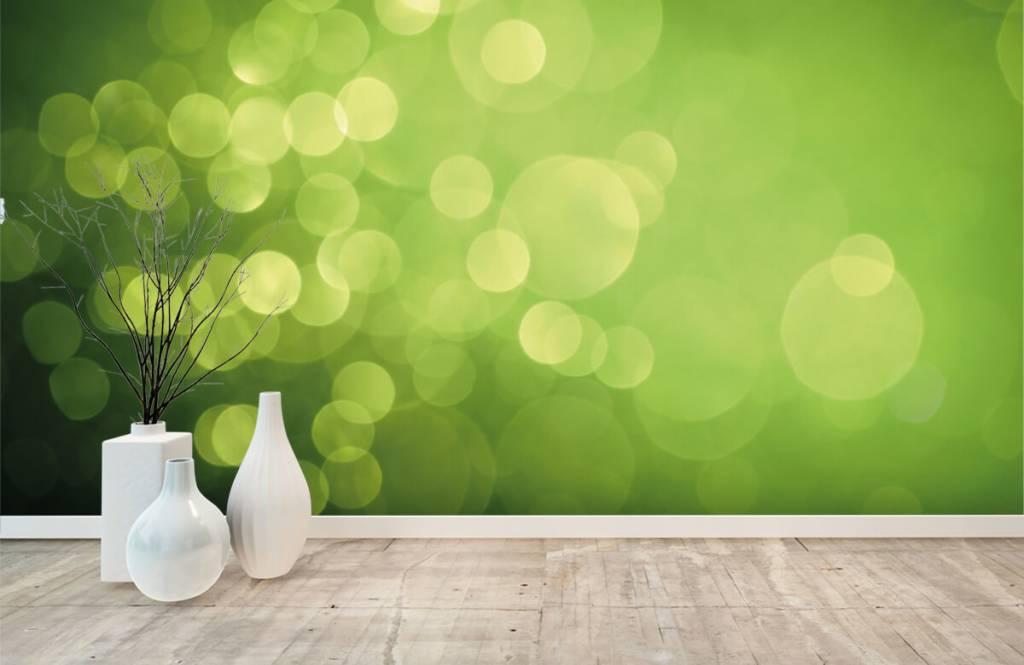 Abstract behang - Abstract groene cirkels - Ontvangstruimte 7