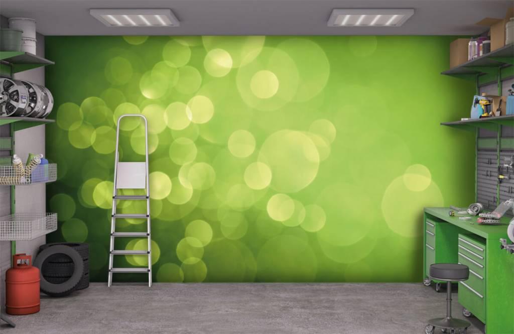Abstract behang - Abstract groene cirkels - Ontvangstruimte 9