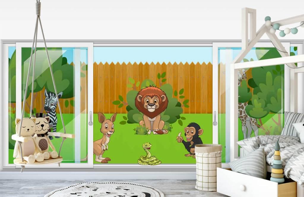 Illustraties - Achtertuin safari - Kinderkamer 1
