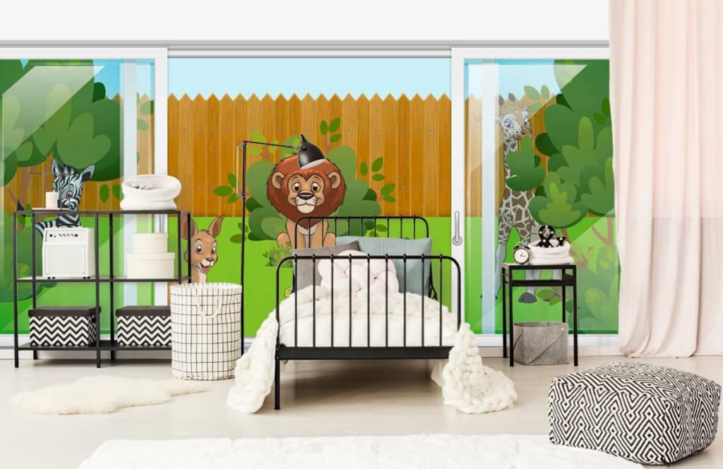 Illustraties - Achtertuin safari - Kinderkamer 2