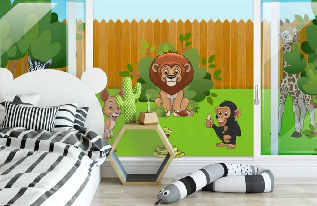 Illustraties - Achtertuin safari - Kinderkamer 3
