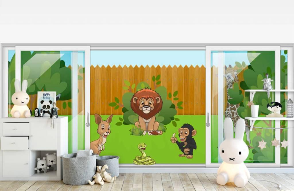 Illustraties - Achtertuin safari - Kinderkamer 4