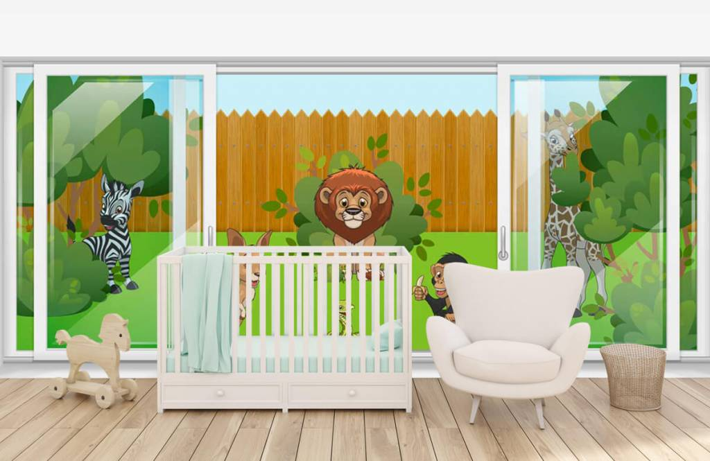 Illustraties - Achtertuin safari - Kinderkamer 5