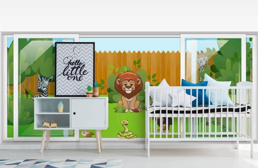 Illustraties - Achtertuin safari - Kinderkamer 6