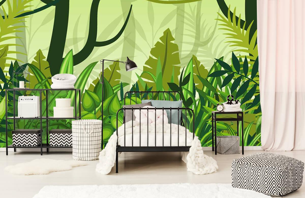 Bomen - Jungle illustratie - Kinderkamer 2