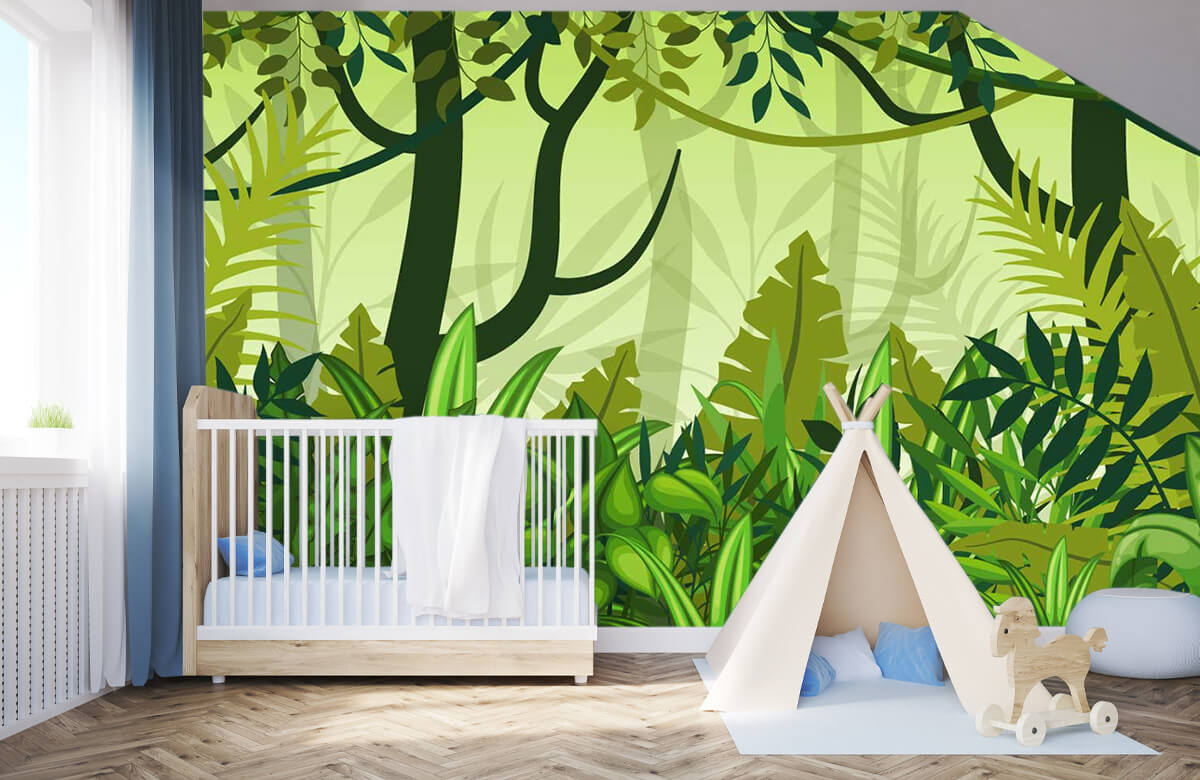 Bomen - Jungle illustratie - Kinderkamer 3