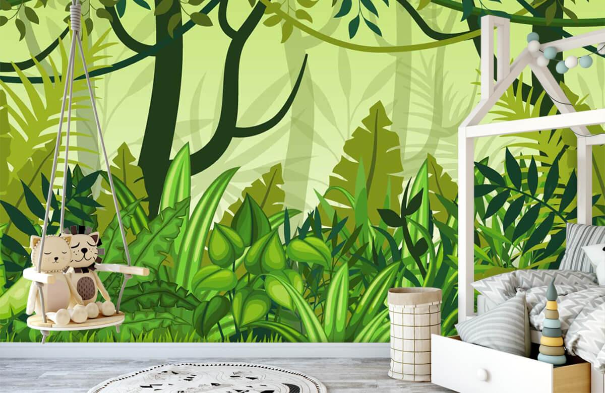Bomen - Jungle illustratie - Kinderkamer 4