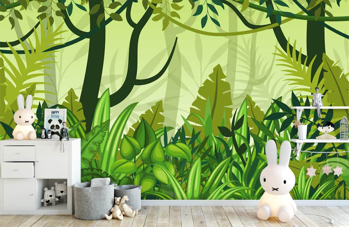 Bomen - Jungle illustratie - Kinderkamer 5