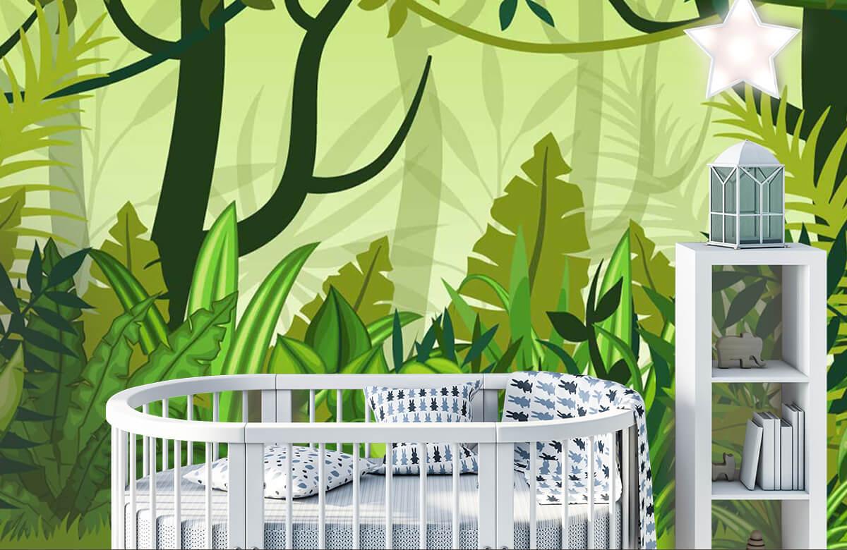 Bomen - Jungle illustratie - Kinderkamer 1