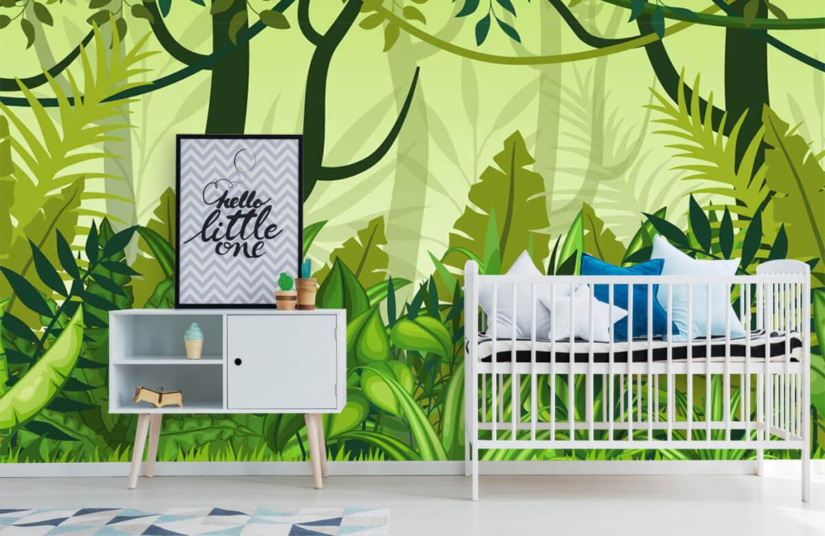 Bomen - Jungle illustratie - Kinderkamer 6