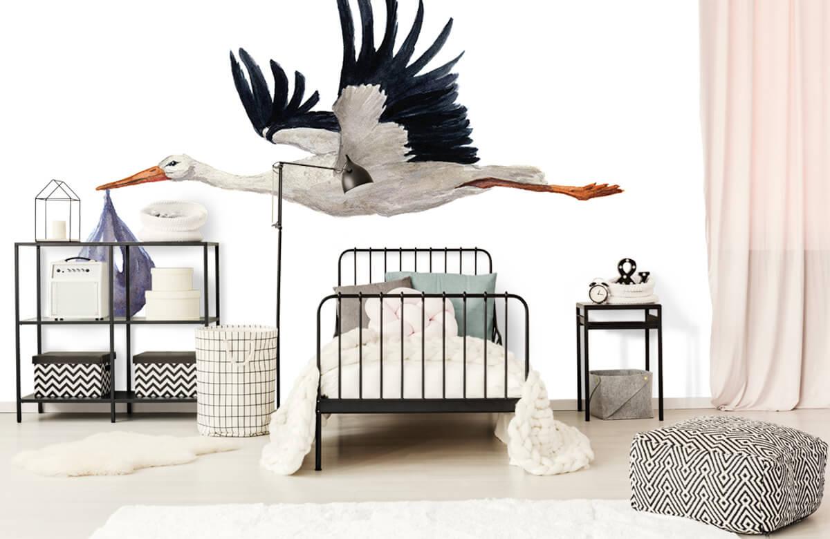 Overige - Vliegende ooievaar - Babykamer 1
