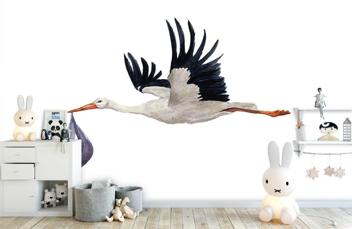 Overige - Vliegende ooievaar - Babykamer 4